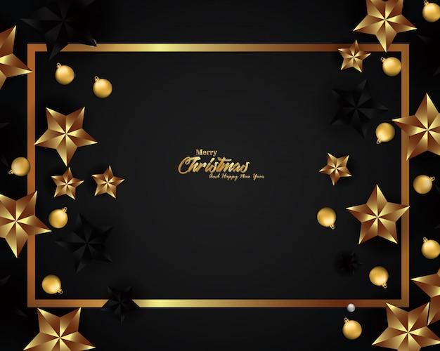 Design de fond de noël de luxe pour bannière et carte de voeux