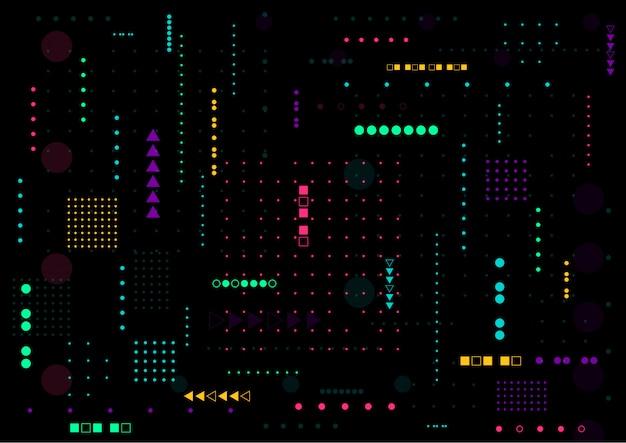 Design de fond numérique technologie abstraite