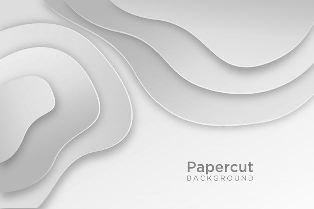Design de fond ondulé papercut blanc moderne