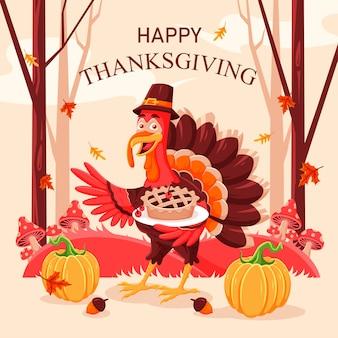 Design de fond plat de thanksgiving