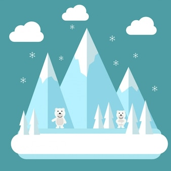 Design fond pôle nord