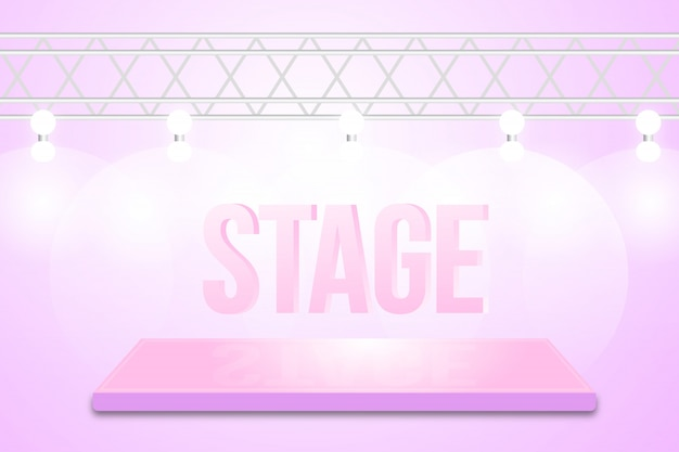 Design de fond de scène de danse