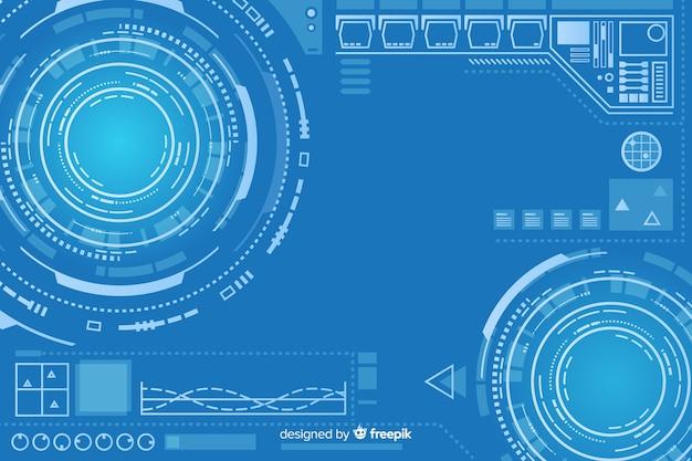 Design de fond de technologie abstraite hud