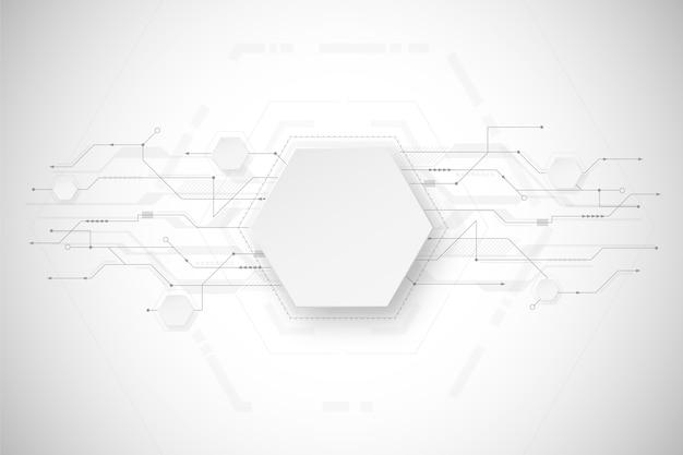 Design de fond de technologie blanche