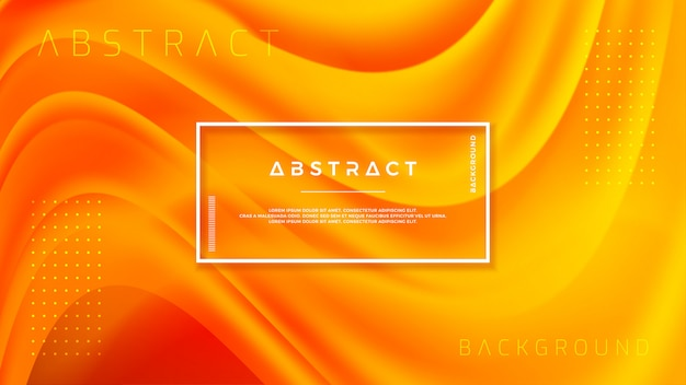 Design de fond texturé dans un style 3d avec la couleur orange.