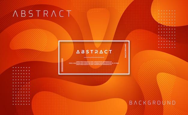 Design de fond texturé dans un style 3d avec des couleurs orange et rouge.