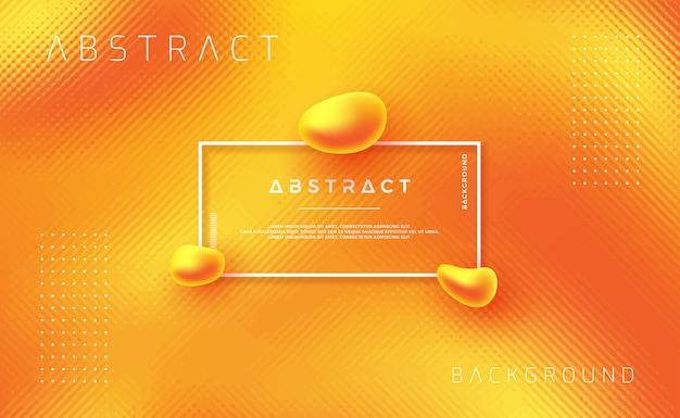 Design de fond texturé dynamique dans un style 3d avec la couleur orange.