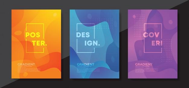 Design de fond texturé dynamique dans un style 3d.