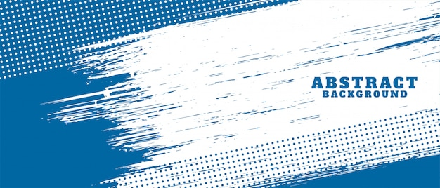 Design de fond de texture grunge abstrait bleu et blanc