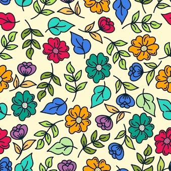 Design de fond transparente motif floral coloré