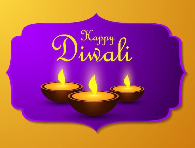 Design de fond de vacances diwali