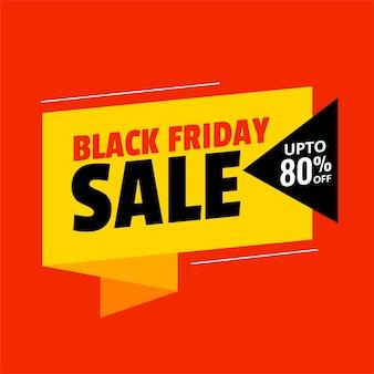 Design de fond de vente vendredi noir de couleurs plates