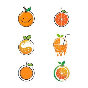 Design frais orange conception d'illustration d'icône de vecteur