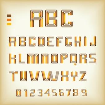 Design futuriste alphabet