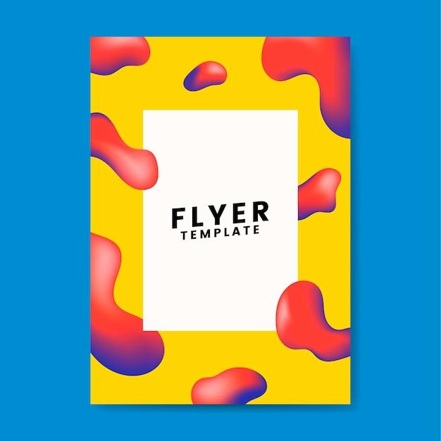 Design graphique de modèle de flyer coloré