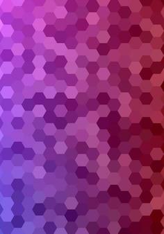 Design hexagonal abstraite de fond de mosaïque de mosaïque