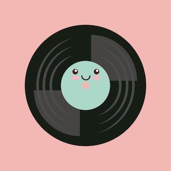 Design d'icône vintage musique