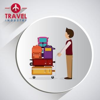 Design d'icône de voyage