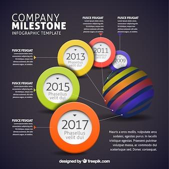 Design infographique multicolore