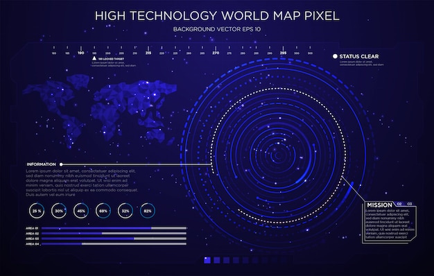 Design d'interface technologie fond d'écran