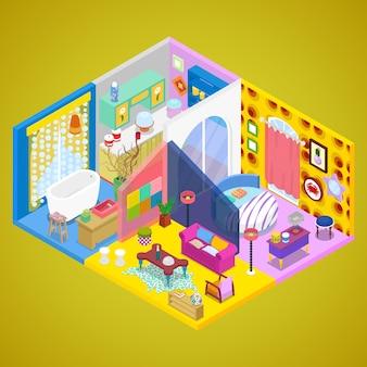 Design d'intérieur d'appartement moderne