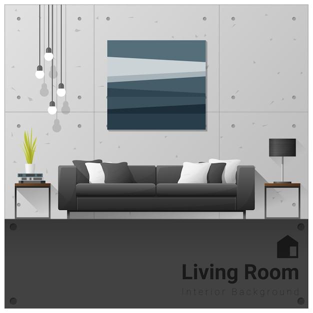 Design d'intérieur bannière de salon moderne