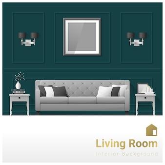 Design D'intérieur Bannière De Salon Moderne Vecteur Premium