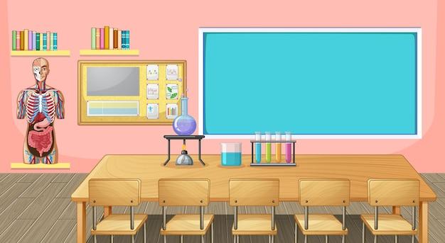 Design d'intérieur de classe avec mobilier et décoration