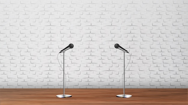 Design d'intérieur de club de karaoké podium