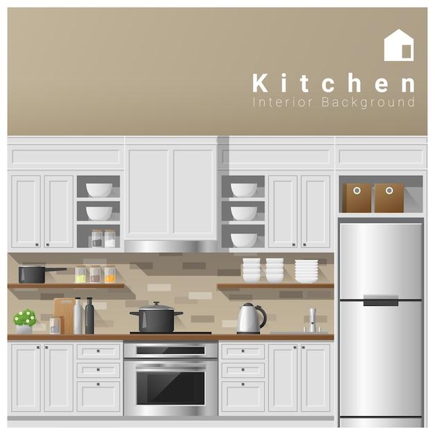Design d'intérieur fond de cuisine moderne