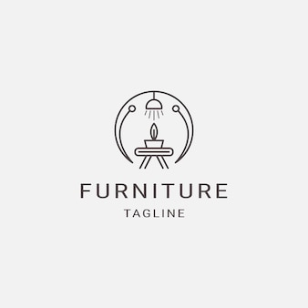 Design d'intérieur de luxe de logo de meubles de ligne de style