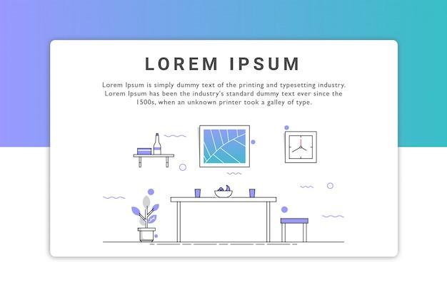 Design d'intérieur de la page de destination