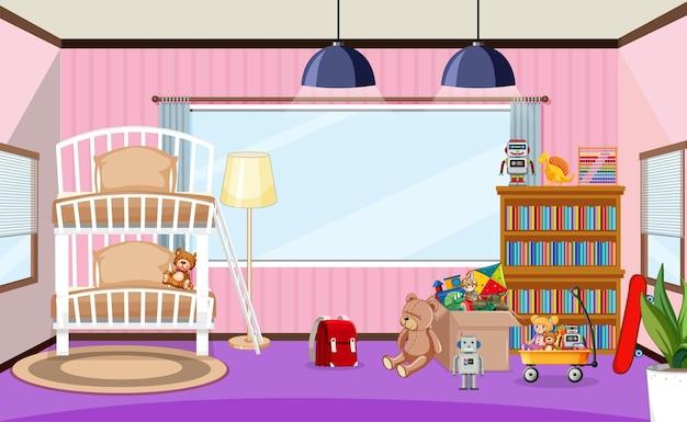 Design d'intérieur de salle de maternelle