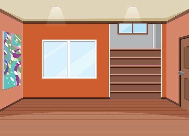 Design d'intérieur de salle vide