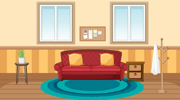 Design d'intérieur de salon avec des meubles