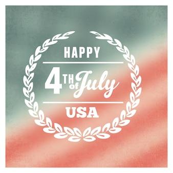 Design de la journée de l'indépendance le 4 juillet