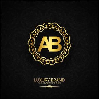 Design de lettre de lettre de luxe