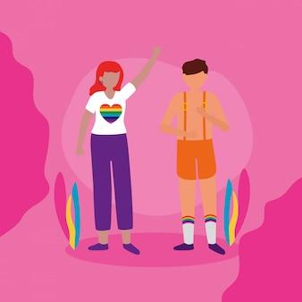 Le design lgbtq de la communauté queer