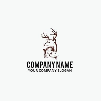 Design de logo de chasse au poisson