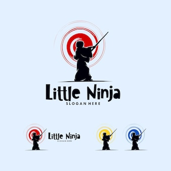 Un design de logo little ninja simple mais mignon