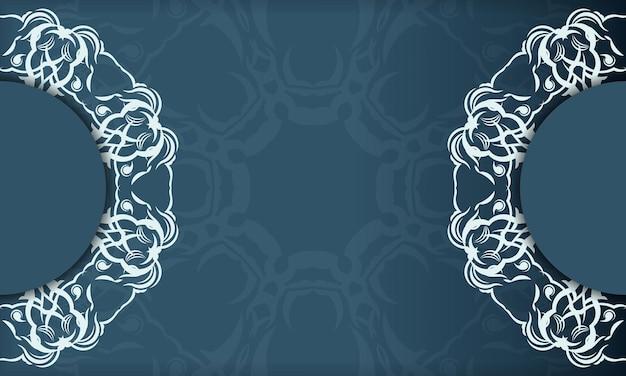 Design de luxe élégant sur fond bleu. convient pour les étiquettes, badges, cadres, logos, lotions, savons, bonbons, chocolat.