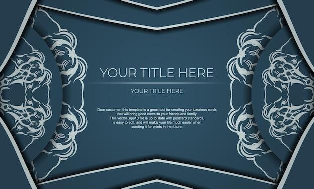 Design de luxe élégant sur fond bleu. convient pour les étiquettes, badges, chocolat.