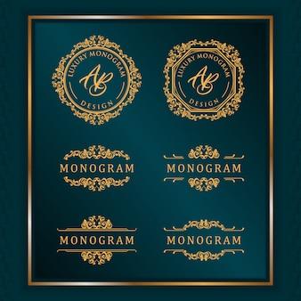 Design de luxe avec élégant fond bleu foncé