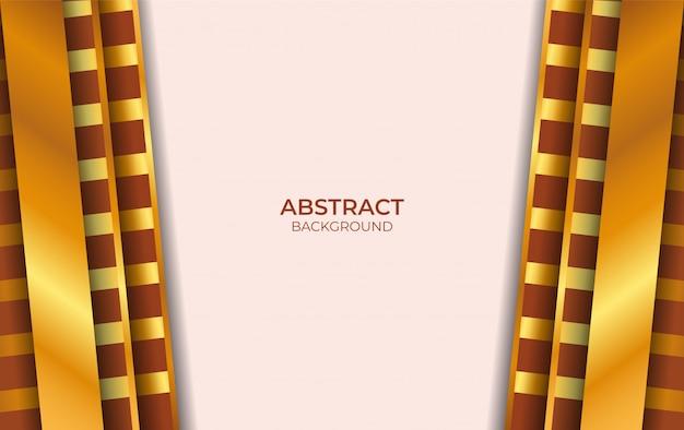 Design de luxe marron et or