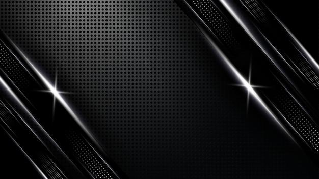 Design de luxe moderne sombre luxe de fond abstrait blanc avec un design d'illustration vectorielle en argent