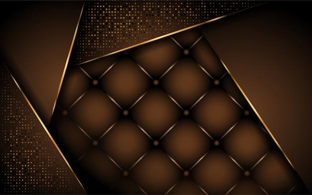 Design luxueux de fond marron foncé