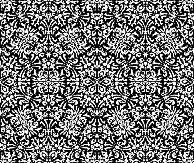 Design luxueux avec motif en filigrane seamless vector templateblack et white texture décorative