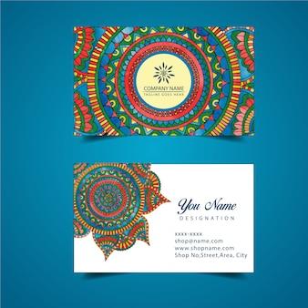 Design de mandala de carte de visite