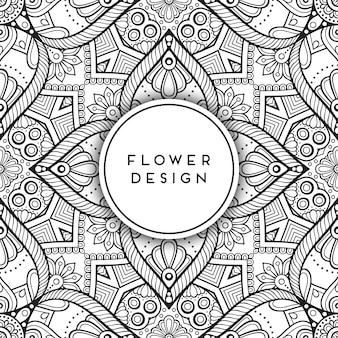 Design de mandala floral