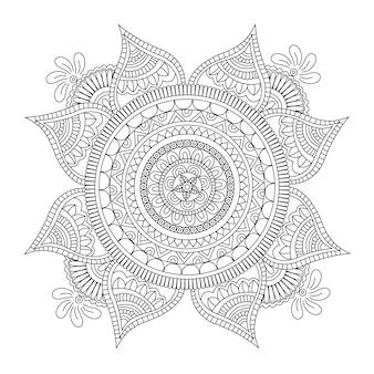 Design de mandala noir et blanc
